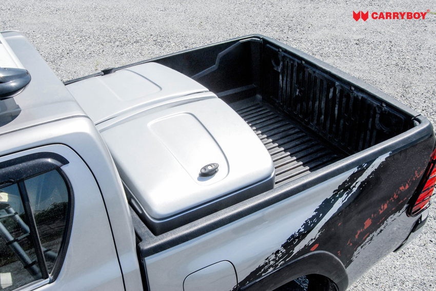 CARRYBOY Staubox für Pickup Ladefläche XXL Jumbobox Seitenöffnungen lackierung silber