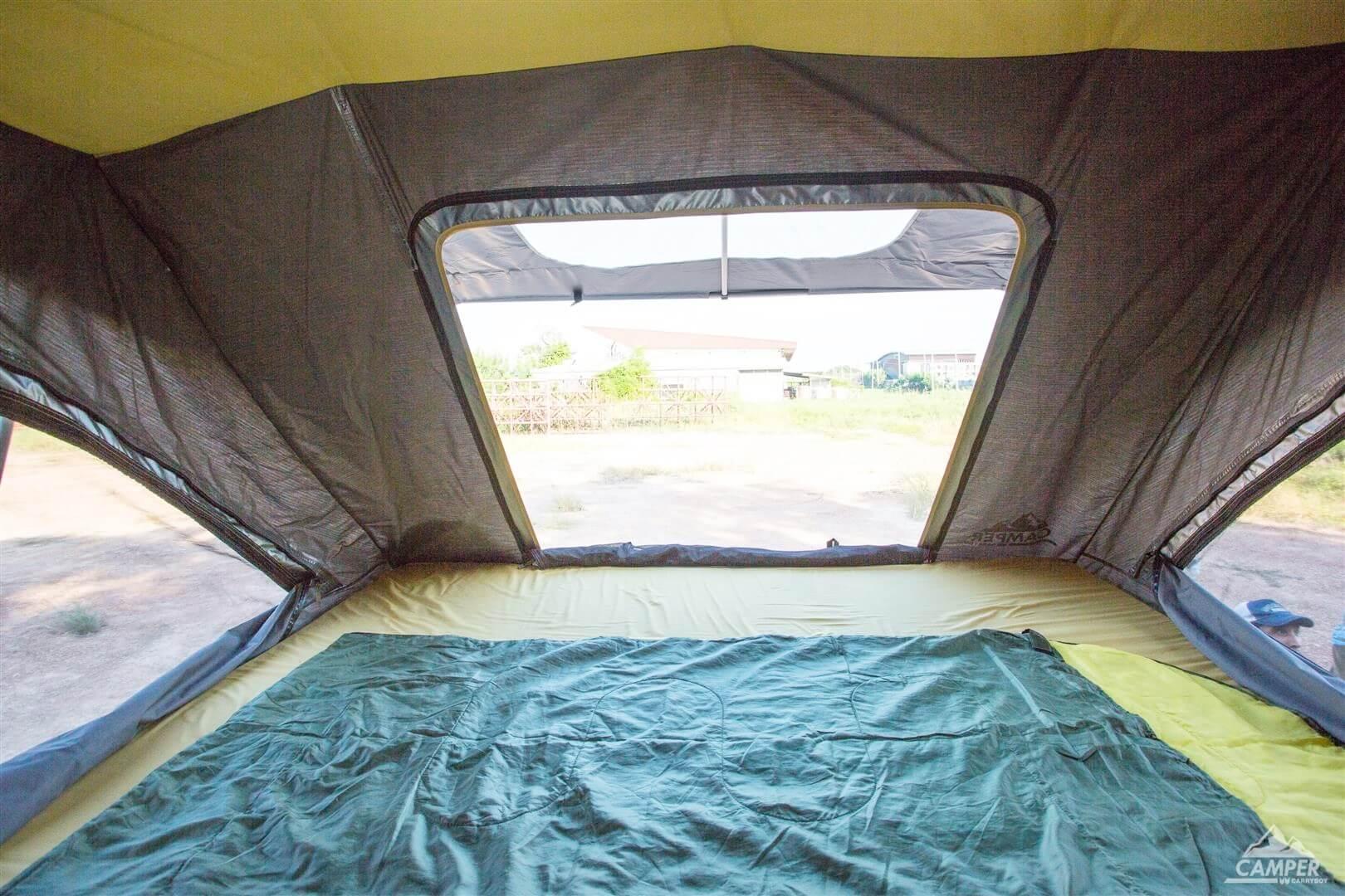 Carryboy Camper Dachzelt für 2 bis 3 Personen für alle Fahrzeuge inklusive Schaummatratze