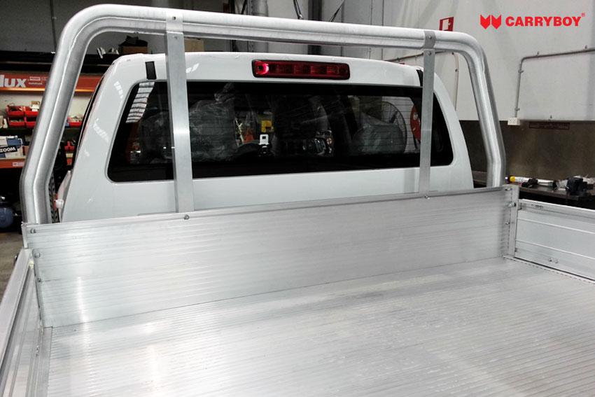 Carryboy Fahrgestellaufbau Aluminium Tray Fahrerkabinenschutz Doppelkabine