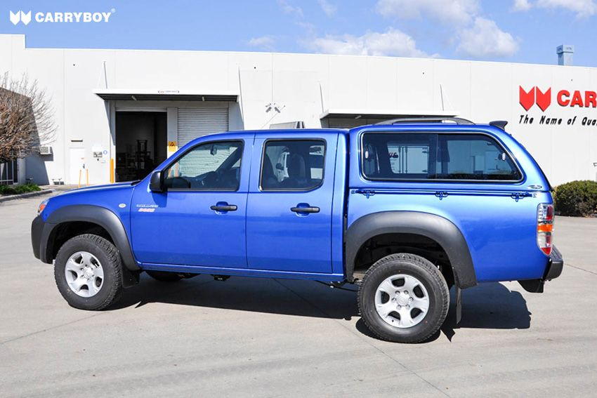 CARRYBOY Hardtop mit Schiebefenster 560-FD Ford Ranger Doppelkabine 2002-2011 Dachreling belastbar 80kg