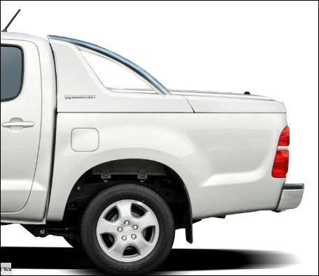 CARRYBOY Laderaumabdeckung mit Edelstahlbügel GRX-TVD Toyota Hilux Vigo Doppelkabine Wagenfarbe