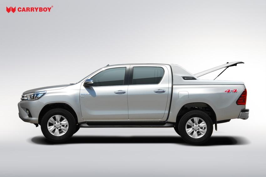 CARRYBOY Laderaumabdeckung mit Überrollbügel Deckel in Wagenfarbe Toyota Hilux Revo_Invincible