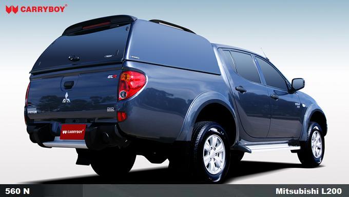 CARRYBOY HArdtop ohne Seitenfenster geschlossene Seiten Mitsubishi L200 Doppelkabine 2005-2015 Kurzbett hochwertiges_belastbares GFK