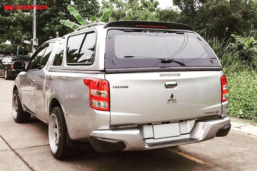 CARRYBOY Hardtop mit Schiebefenster Mitsubishi L200 Clubcab Extrakabine Vollglas Heckscheibe mit Heizung