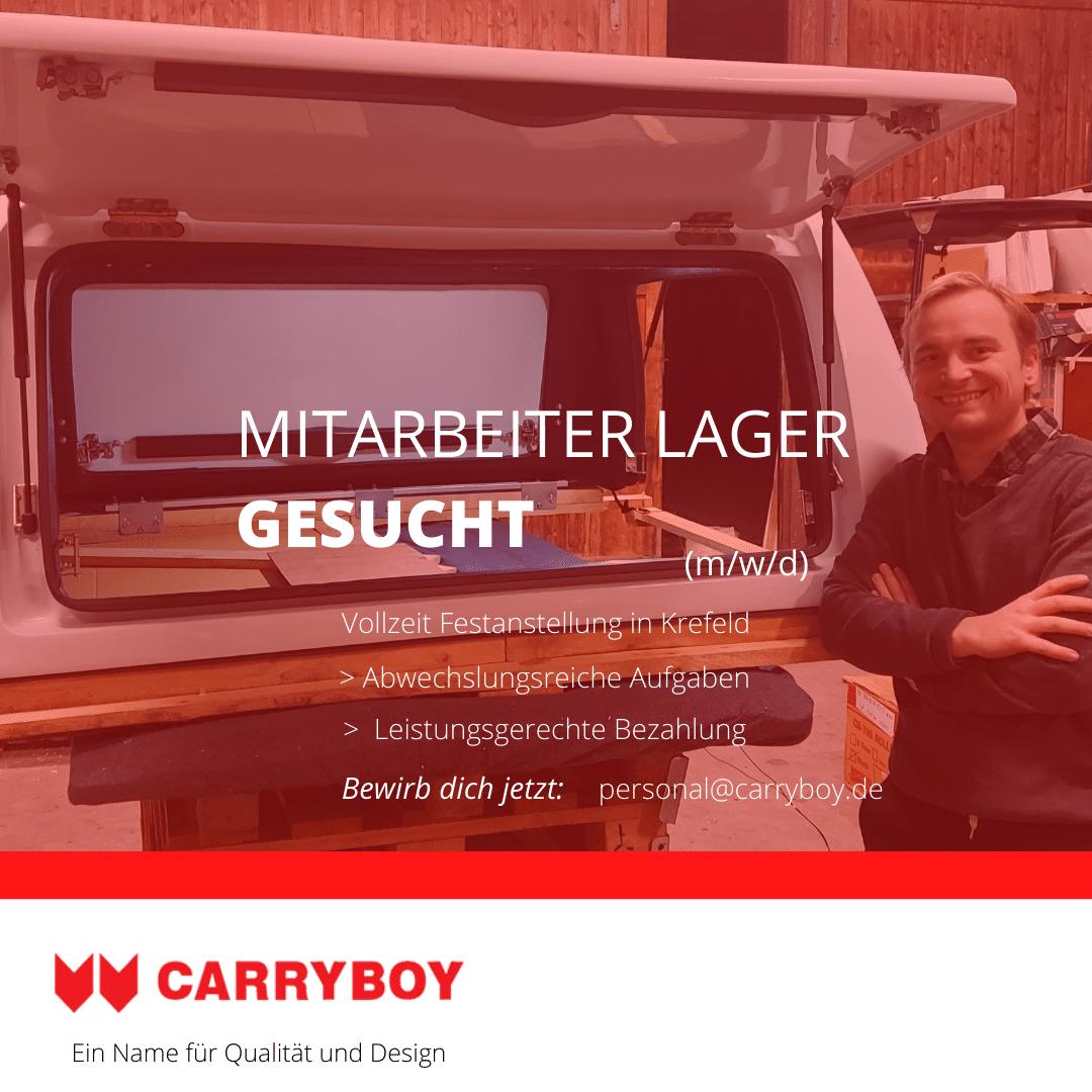 CARRYBOY Stellenanzeige Lager Facebook