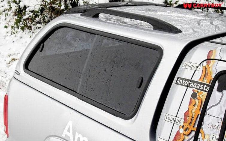 CARRYBOY Hardtop 560 mit seitlichen Schiebefenster für VW Amarok Doppelkabine Aluminium Dachreling
