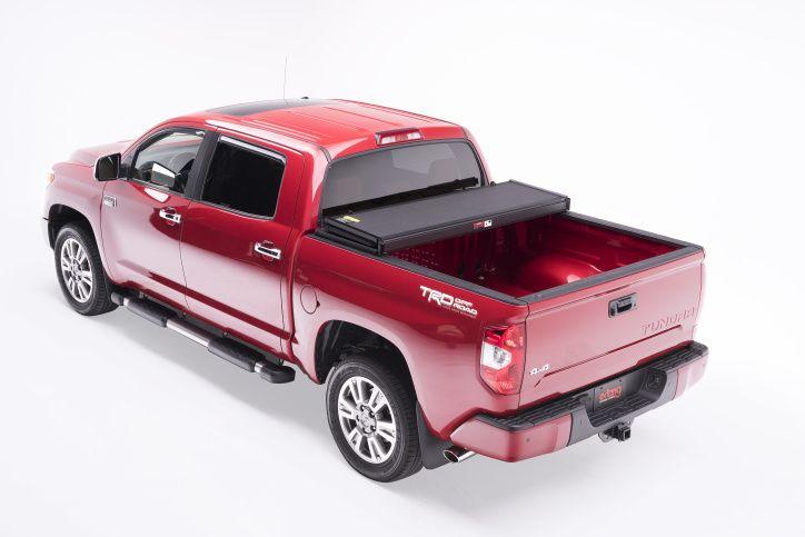 NOVISauto Laderaumabdeckung Trifold zum Falten Überkante Toyota Tundra offen fahrbar