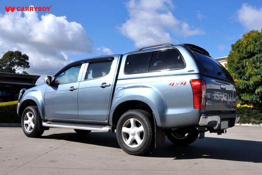 CARRYBOY Hardtop mit seitlichen Schiebefenstern 560-IRDB Isuzu D-Max Doppelkabine 2017-2020 belastbare Dachreling 80kg