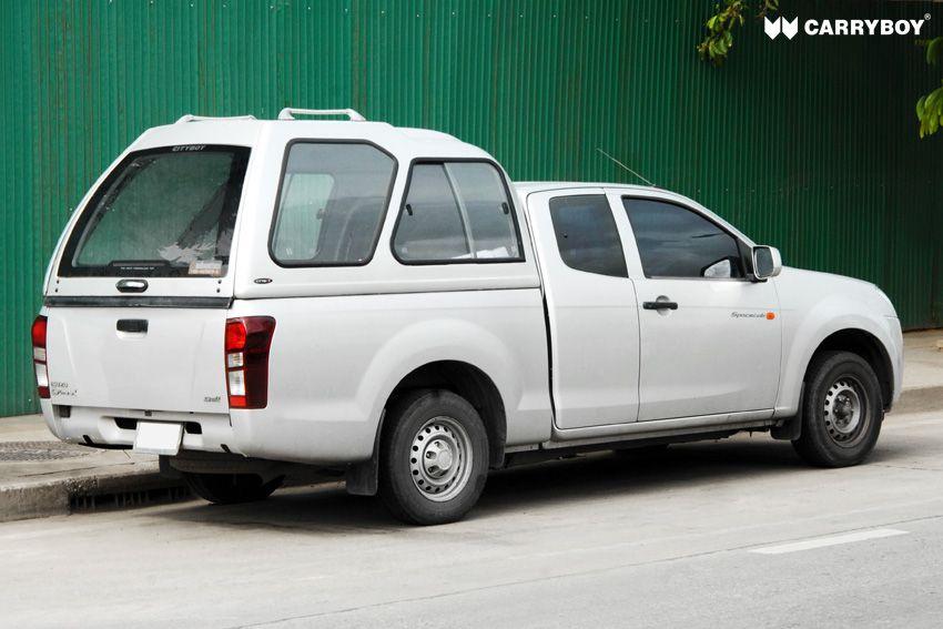 CARRYBOY Hardtop mit Überhöhe Schiebefenster 840-FC Ford Ranger Extrakabine 2002-2011 einfacher Aufbau