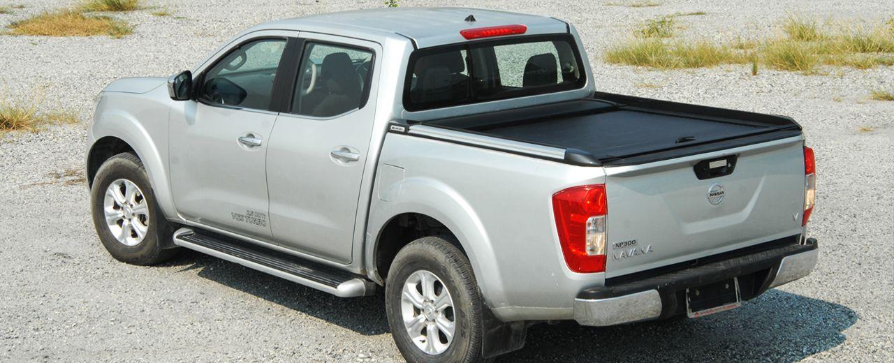 CARRYBOY Aluminiumrollo doppelwandig mattschwarz Nissan Navara NP300 Doppelkabine