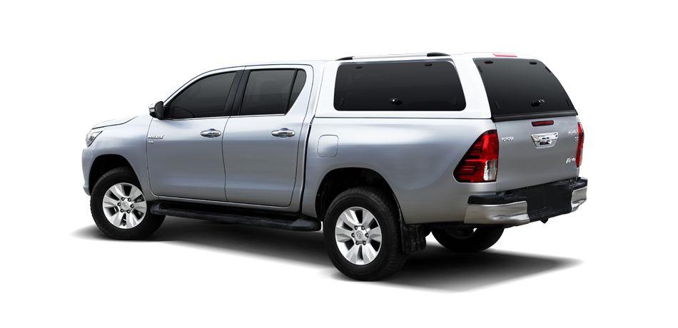 CARRYBOY GFK Hardtop Schiebfenster Klappfenster Kombination Toyota Hilux Revo Invincible Doppelkabine gesicherte Ersatzteilversorgung
