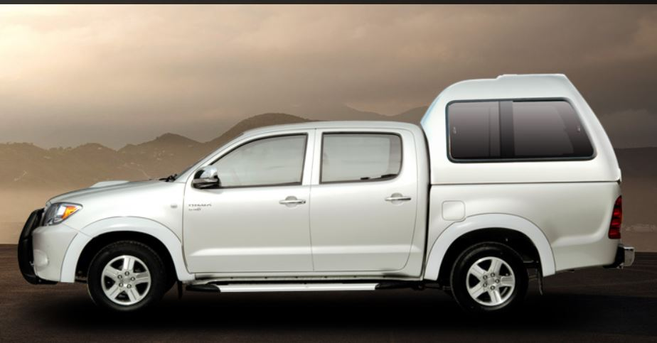 Carryboy Hardtop 840 in Übergröße für Toyota Hilux Vigo Doppelkabine | Seitenansicht