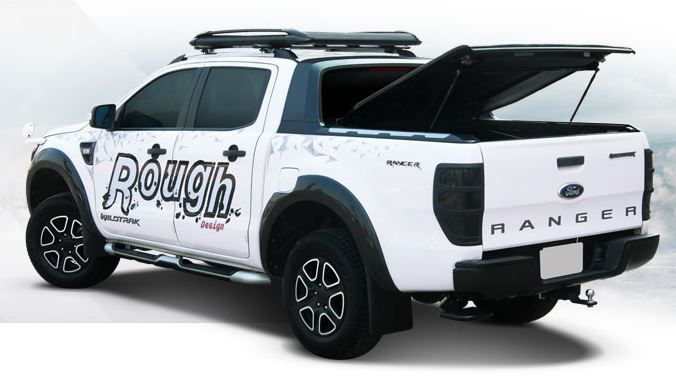 CARRYBOY GFK Deckel in Wagenfarbe lackiert Ford Ranger Doppelkabine Wildtrak Raptor elegantes Design