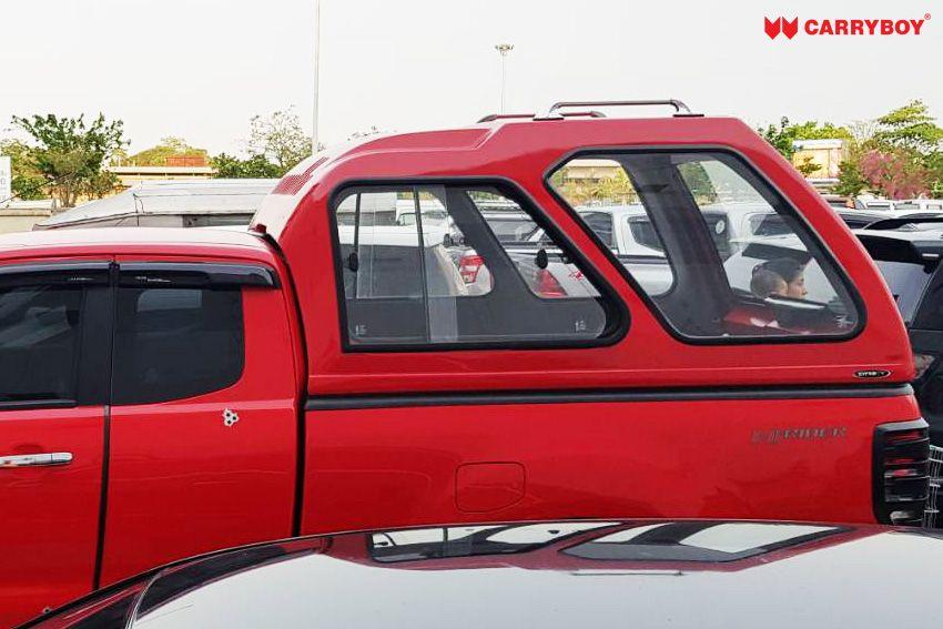 CARRYBOY Glasfaserhardtop Transporthardtop 840 Überhöhe Ford Ranger Extrakabine 2012+ lichte Höhe große Fenster