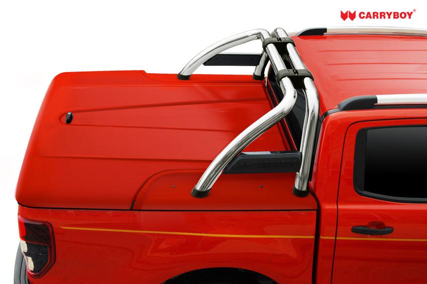 CARRYBOY Laderaumabdeckung GFK Deckel mit Bügel SLX Ford Ranger Doppelkabine 2012+