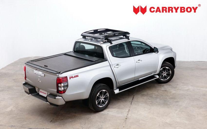 CARRYBOY Aluminiumrollo Mitsubishi L200 Doppelkabine mattschwarz Aluminiumcover