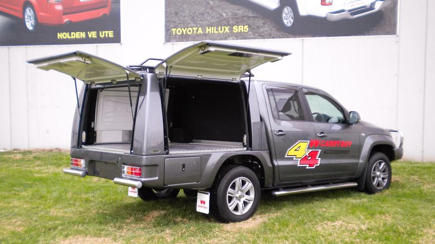 CARRYBOY CSV Tradesman für VW Amarok DC Klappen offen
