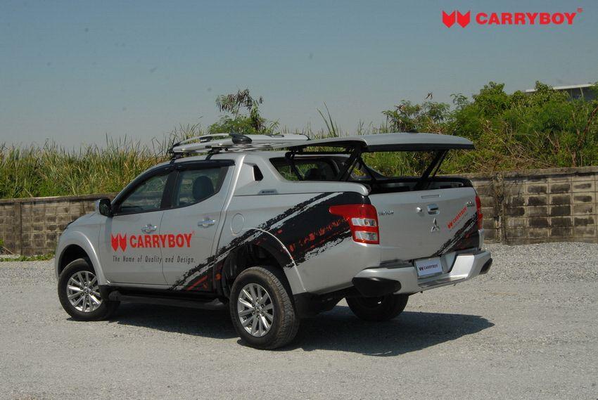 CARRYBOY Laderaumabdeckung Flachabdeckung Deckel mit Überrollbügel Fiat Fullback Mitsubishi L200 Motorhub