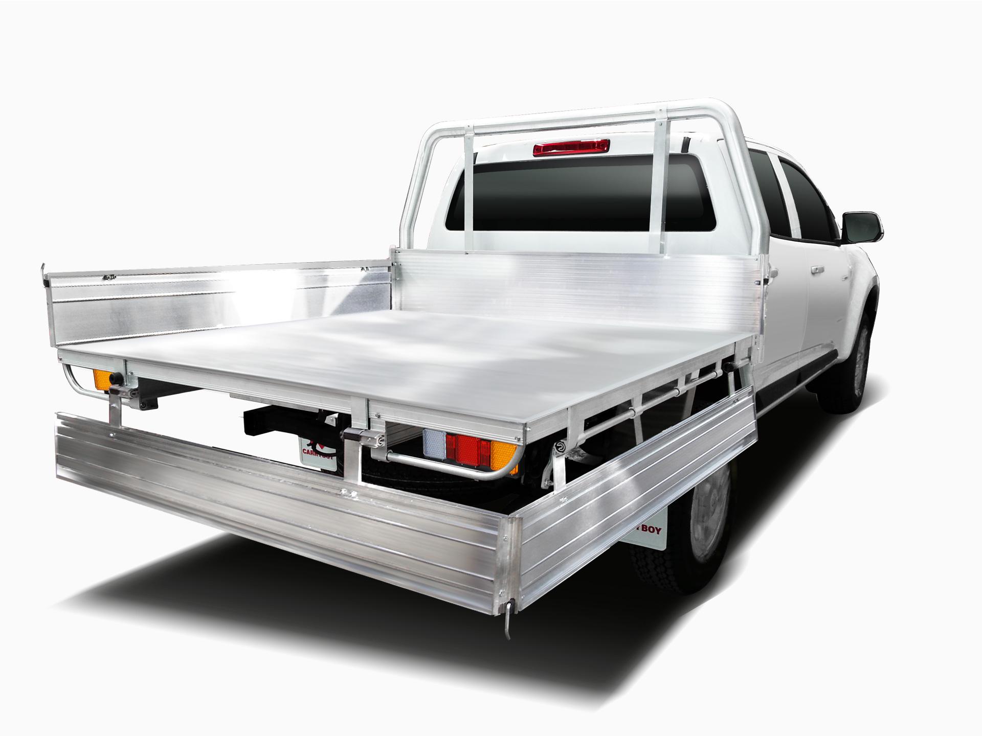 Carryboy Fahrgestellaufbau Aluminium Ladefläche für Doppelkabine Pickup Bracken klappbar