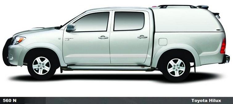 CARRYBOY Hardtop 560oS-TVL ohne Seitenfesnter geschlossene Seiten Toyota Hilux Einzelkabine Singlecab 2005-2015