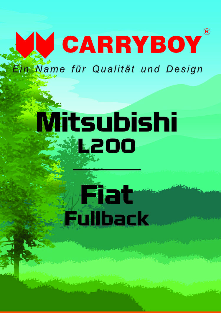 CARRYBOY Flyer Broschüre Mitsubishi L200 Fiat Fullback Hardtop Laderaumabdeckung Zubehör