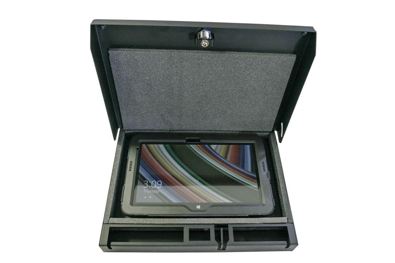 Novisauto Fahrzeugsafe Fahrzeugtresor Universal Abschliessbar Tablet und Sicherheitsbox mit Kabeldurchführung