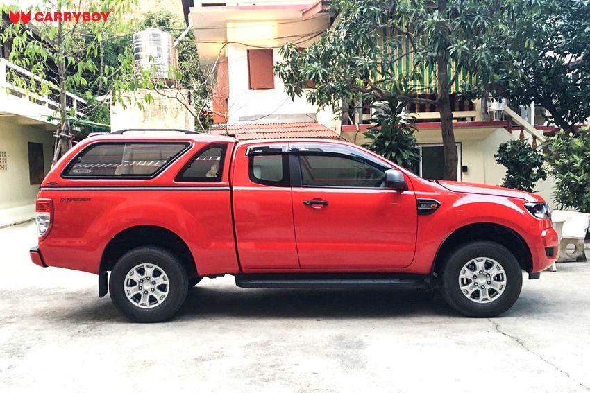 CARRYBOY GFK Hardtop mit Schiebefenster Ford Ranger Extrakabine 2012+ Wagenfarbe lackiert