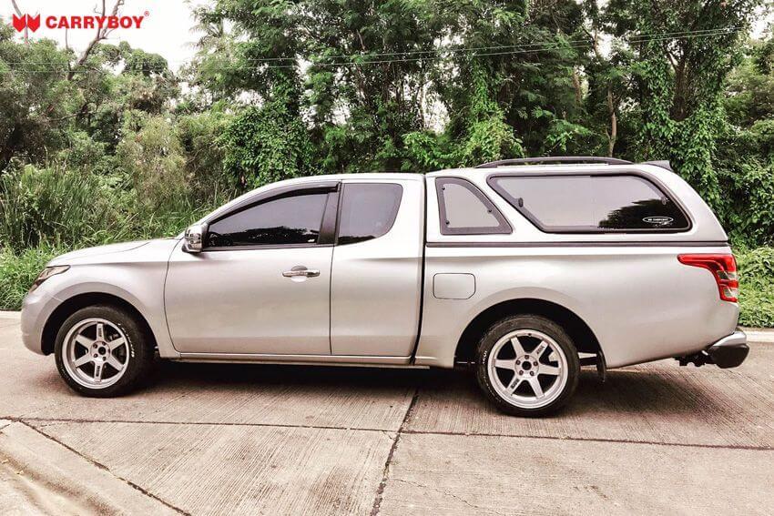 CARRYBOY Hardtop mit Schiebefenster Mitsubishi L200 Clubcab Extrakabine Lackierung in Wagenfarbe