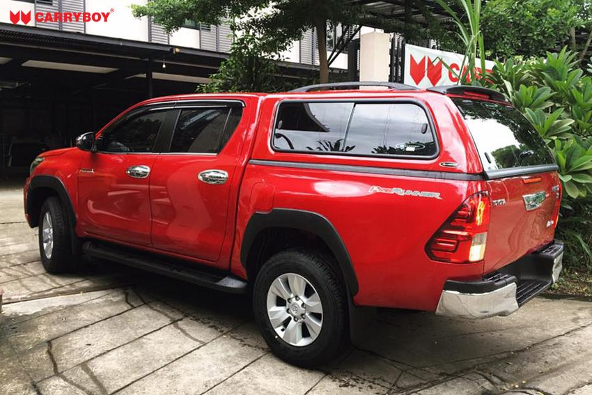 CARRYBOY GFK Hardtop 560-TRD mit Schiebefenster Toyota Hilux Revo Invincible Doppelkabine führend in Qualität und Design