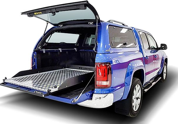 CARRYBOY Ladebodenauszug ausziehbare Ladefläche 350kg Belastung Aluminium einfacher Einbau
