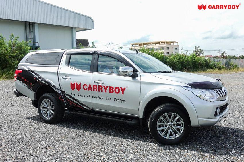 CARRYBOY Hardtop S6-MND Mitsubishi L200 Doppelkabine getönte Ausstellfenster Lackierung in Wagenfarbe