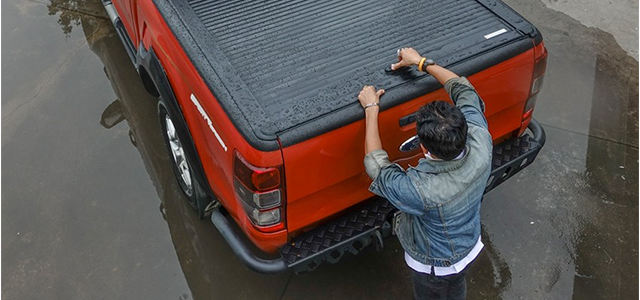NOVISauto Laderaumabdeckungen Rollcover für Ford Ranger Mitsubishi L200