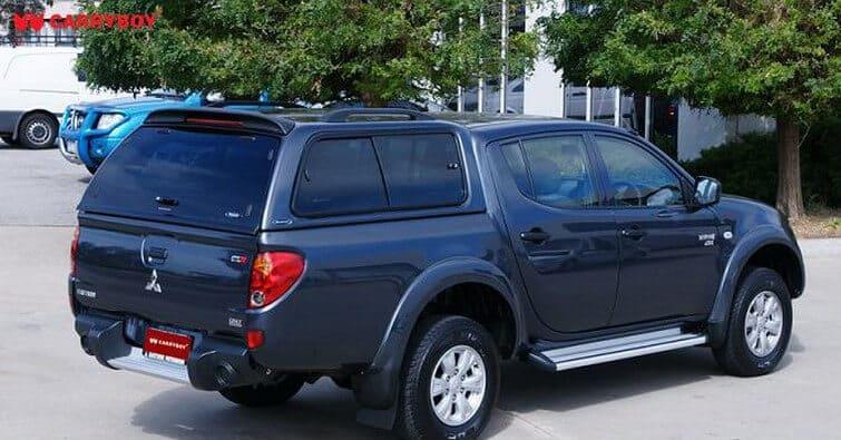 CARRYBOY Hardtop mit Schiebefenster 560-MTDL Mitsubishi L200 Doppelkabine Langbett 151cm einfache Installation ohne Bohren