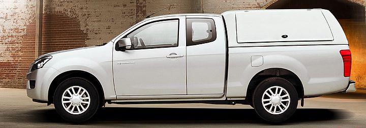 CARRYBOY Gewerbehardtop mit Kunstoffklappen Mitsubishi L200 Fiat Fullback Extrakabine Clubcab extrem stabil
