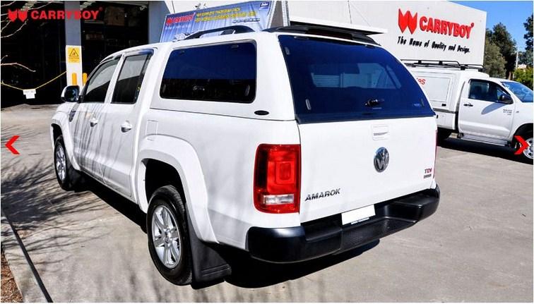 CARRYBOY Hardtop für Volkswagen Amarok mit getönten Klappfenstern seitlich Spoiler und Dachreling