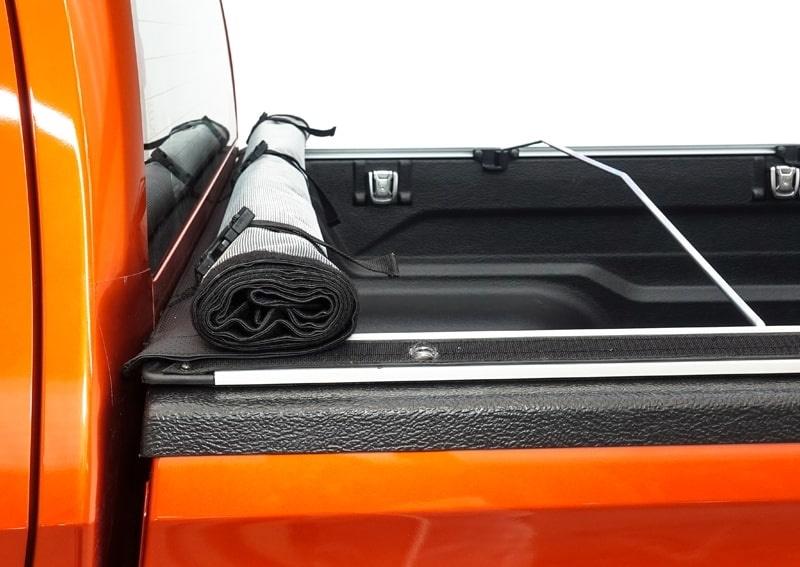 CARRYBOY Vinylplane Laderaumabdeckung Plane für Ford Ranger Doppelkabine 2012+ Plane aufrollbar geöffnet