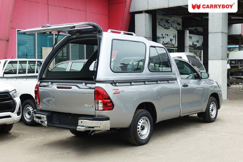 CARRYBOY Hardtop mit Überhöhe 840-TRL Toyota Hilux Singlecab Einzelkabine seitliche Schiebefenster