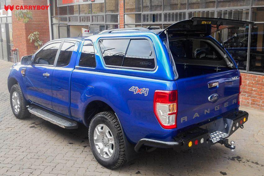 CARRYBOY GFK Hardtop mit Schiebefenster Ford Ranger Extrakabine 2012+ Heckklappe weit aufklappbar