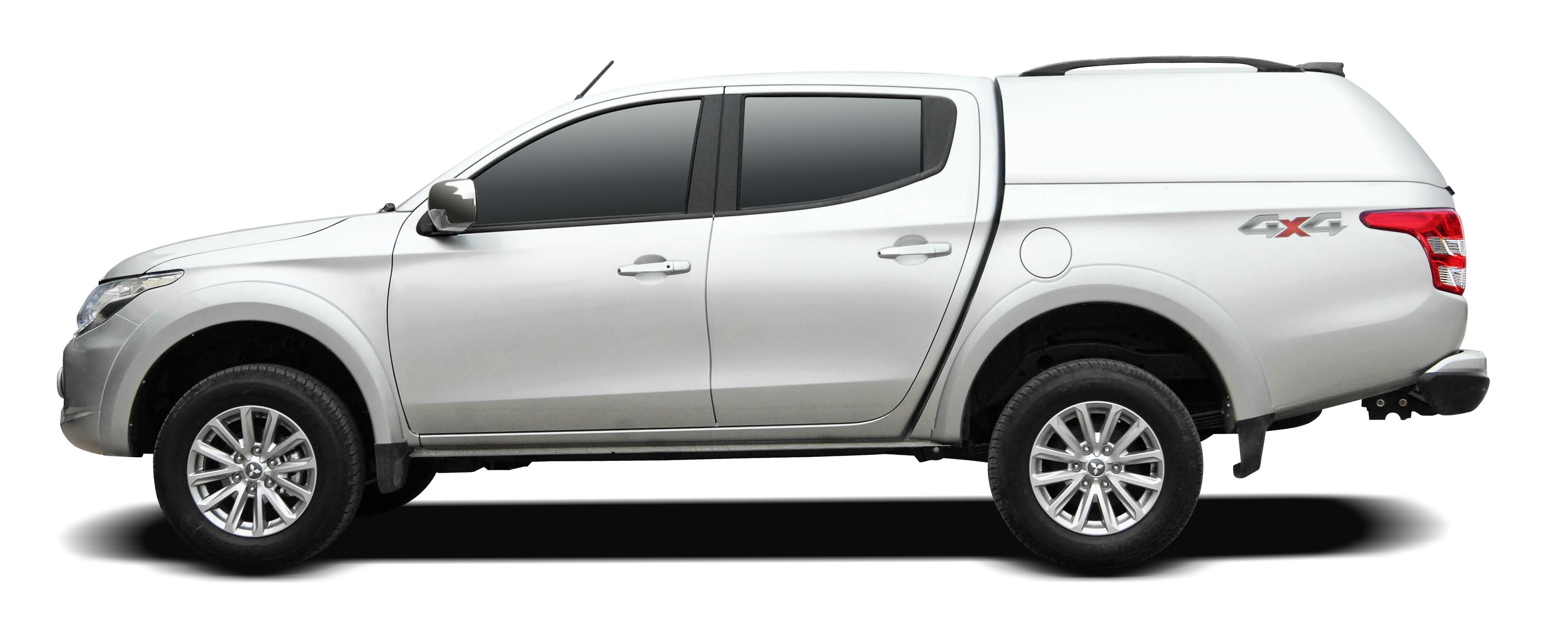 Carryboy GFK Hardtop ohne Seitenfenster für Mitsu L200 / Fiat Fullback sehr stabil und belastbar