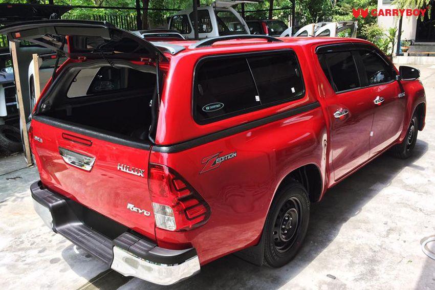 CARRYBOY GFK Hardtop 560-TRD mit Schiebefenster Toyota Hilux Revo Invincible Doppelkabine beheizbare Heckscheibe