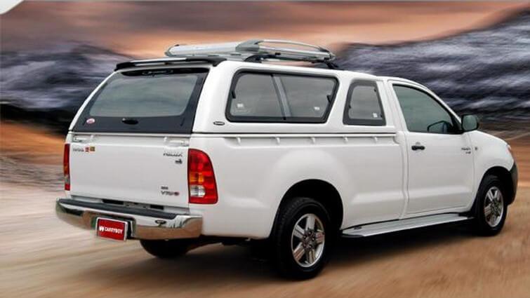 CARRYBOY Hardtop 560-TVL Toyota Hilux Vigo Singlecab 2005-2015 GFK extrem belastbar und stabil