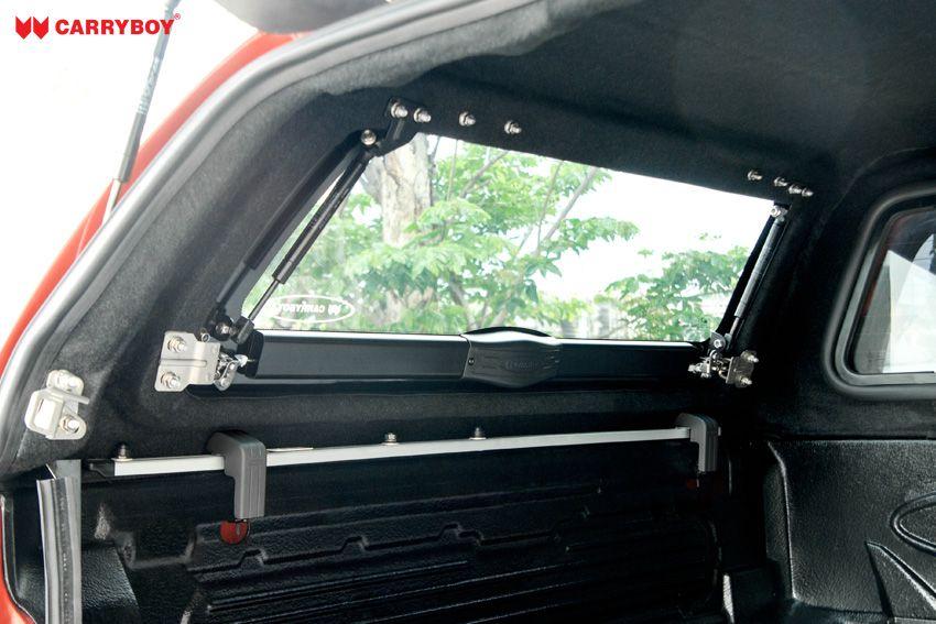 CARRYBOY GFK Hardtop SO56 Wagenfarbe Lackiert mit Schiebefenster und Klappfenster Kombination pflegeleichter Innenteppich