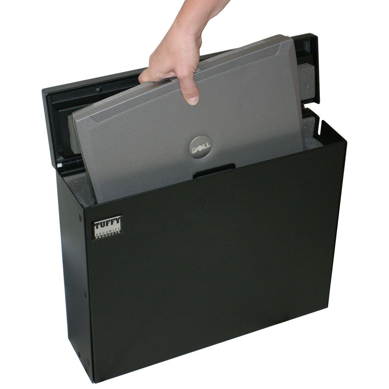 NOVISauto Laptop und Tabletsafe für Fahrzeuge 15 Zoll Fahrzeugsafe dicke Polsterung innen