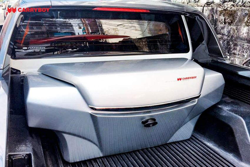 CARRYBOY Transportbox Staubox für Pickup Ladefläche Standardmaß CB-704  Ford Ranger Wildtrak Bügel