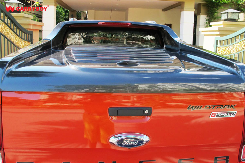 CARRYBOY Laderaumabdeckung Deckel Flachabdeckung sicher abschließbar Ford Ranger Doppelkabine 2012+