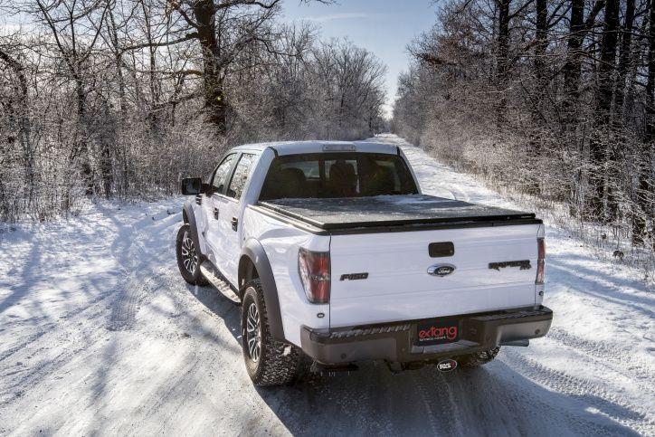 NOVISauto Laderaumabdeckung Faltbar Überkante Ford F150 2021+ Witterungsbeständig und dichtet ab
