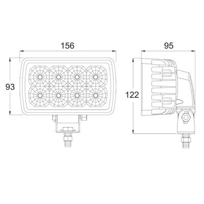 LED verstellbarer Arbeitsscheinwerfer 3400 Lumen Modell 5746