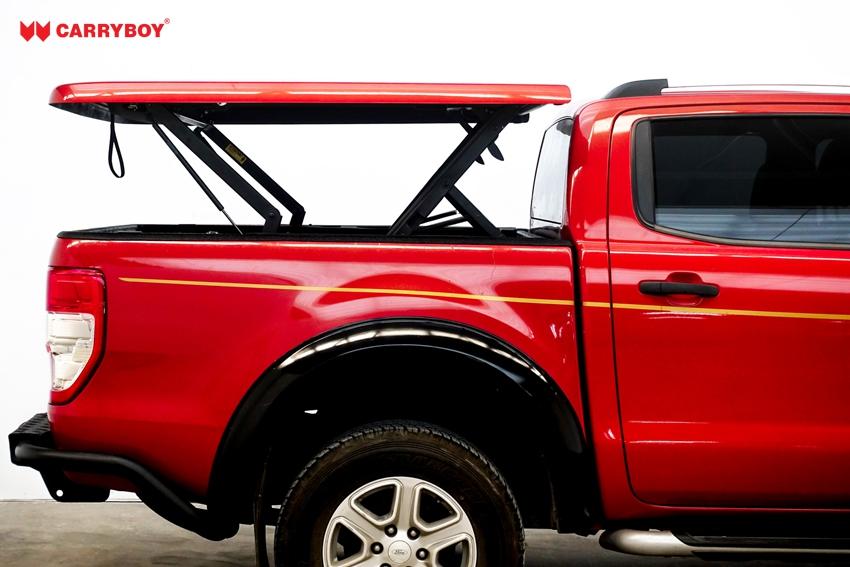 Ford Ranger Doppelkabine Laderaumabdeckung Deckel Flachabdeckung SMX2-FTD, offener Deckel