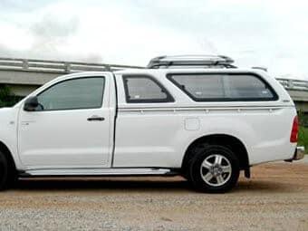 CARRYBOY Hardtop mit Schiebefenster für Ford Ranger Einzelkabine Singlecab einfacher Aufbau ohne Bohren