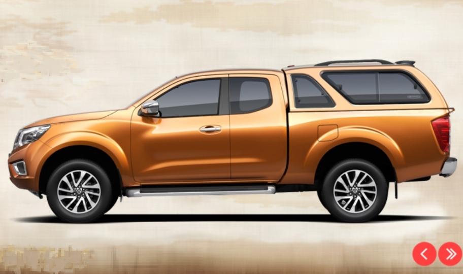 CARRYBOY Hardtop mit Schiebefenster Nissan Navara NP300 Kingcab Lackierung in Wagenfarbe